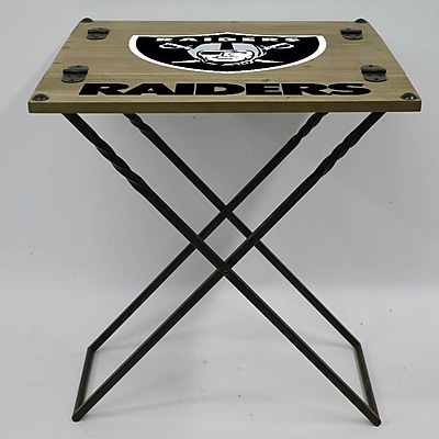 Evergreen Enterprises, Inc 19.9'' Rectangular Folding Table; Oakland Raiders