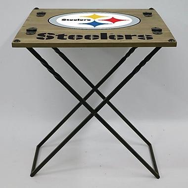 Evergreen Enterprises, Inc 19.9'' Rectangular Folding Table; Pittsburgh Steelers