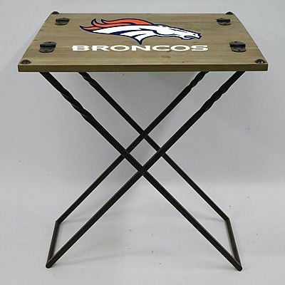 Evergreen Enterprises, Inc 19.9'' Rectangular Folding Table; Dever Broncos