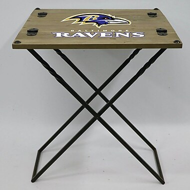 Evergreen Enterprises, Inc 19.9'' Rectangular Folding Table; Baltimore Ravens