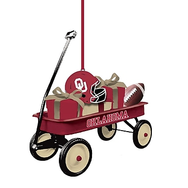 Evergreen Enterprises, Inc Team Wagon Ornament Hanging Figurine; University of Oklahoma