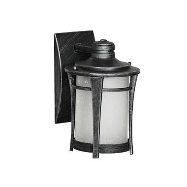Red Barrel Studio Laronda 1-Light Outdoor Wall Lantern; Matte Black Silver