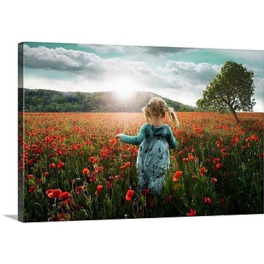 Red Barrel Studio 'Into The Poppies' Photographic Print on Canvas; 20'' H x 30'' W x 1.5'' D
