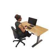 Symple Stuff Bamboo Living Electronic Height Adjustable Sit/Stand Ergonomic Computer Desk
