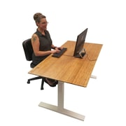 Symple Stuff Living Wood Strip Style Table Desk Top; Parallel