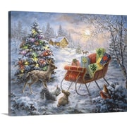 The Holiday Aisle 'Tis the Night Before Xmas' Painting Print on Wrapped Canvas