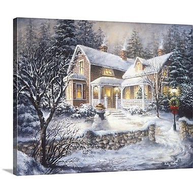 The Holiday Aisle 'Winter's Welcome' Rectangle Painting Print on Wrapped Canvas