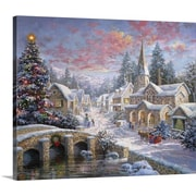 The Holiday Aisle 'Heaven on Earth' Painting Print on Wrapped Canvas; 24'' H x 30'' W x 1.25'' D