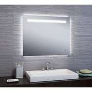 Orren Ellis Attah LED Bathroom/Vanity Mirror; 24'' H x 30'' W x 2'' D