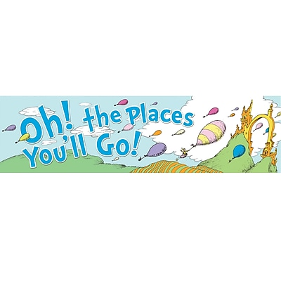 Eureka Classroom Dr Seuss Oh The Places Balloons Poster