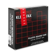 Kleer-Fax  Hanging File Folder Tabs, 2'', 1/5 Cut, 25/PK, Red