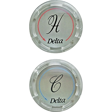 Delta Replacement Clear Button Handle Bathroom Faucet (Set of 2)