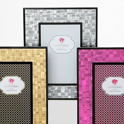 Mercer41 Crawley 3 Piece Mosaic Glass Picture Frame Set
