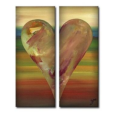 Ready2hangart Zane Heartwork ''Dayle'' by Zane 2 Piece Painting Print on Wrapped Canvas Set
