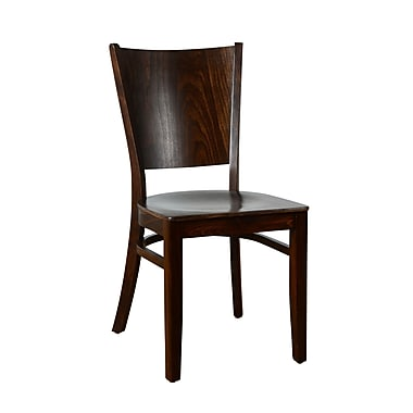 Benkel Seating Winston Solid Wood Dining Chair (Set of 2); Walnut