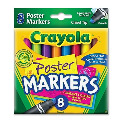 Crayola Washable Poster Markers (8 Pack) WYF078276594649