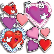 Teachers Friend Punch-outs Valentines Hearts Bulletin Board Cut Out