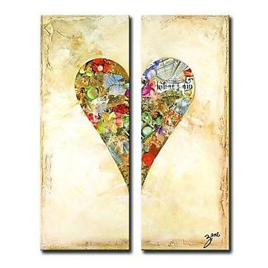 Ready2hangart Zane Heartwork ''Bella'' 2 Piece Graphic Art on Wrapped Canvas Set