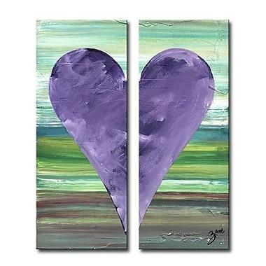 Ready2hangart Zane Heartwork ''Anthony'' by Zane 2 Piece Painting Print on Wrapped Canvas Set