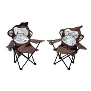 Zoomie Kids Marcus Monkey Folding Camping Kids Chair w/ Cup Holder (Set of 2)