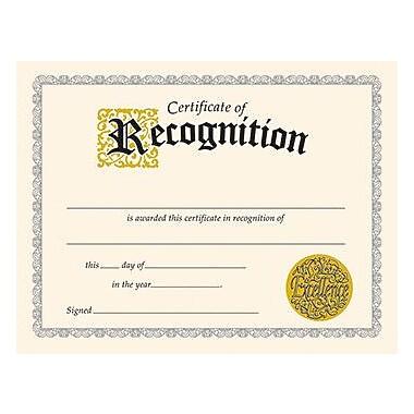 Trend Enterprises Recognition Certificate