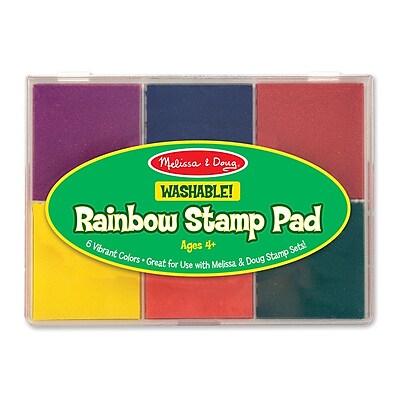 Melissa & Doug Rainbow Stamp Pad Arts & Crafts Kit