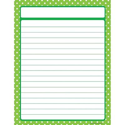 Teacher Created Resources Lime Green Polka Dots Chart