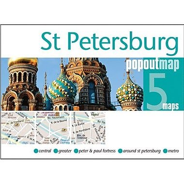 Universal Map St. Petersburg PopOut Map