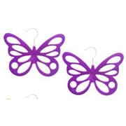 Home Basics Butterfly Scarf Hanging Organizer (Set of 2); Purple