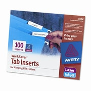 AVERY-DENNISON Printable Inserts for Hanging File Folders (100/Pack)