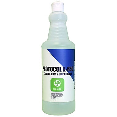 Protocol K-650 UL EcoLogo Certified Calcium, Rust and Lime Remover, 1L, 3/Pack (STCK650001)