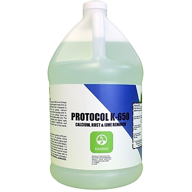 Protocol – Nettoyant pour le calcium, le calcaire et la rouille K-650, certifié UL par EcoLogo, 4 l (STCK650004)