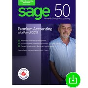 Sage 50 Premium Accounting with Payroll 2018 Canada, 1-Year Subscription, 2-Users [Download]