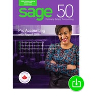 Sage 50 Pro Accounting with Payroll 2018 Canada, 1 Year Subscription, 1-User [Download]