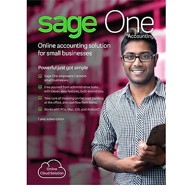 Sage One Accounting Canada, 1 Year Subscription, 1-User [Download]