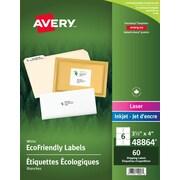AveryMD – Étiquettes blanches écologiques d'expédition pour imprimante laser/jet d'encre, 4 x 3 1/3 po, 60/paquet