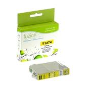 Fuzion - Cartouche d'encre jaune très haute capacité compatible Epson T127420, rendement standard (T127420)