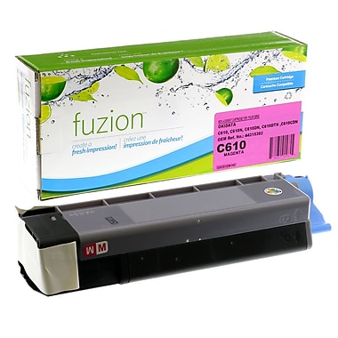 fuzion™ New Compatible Okidata C610 Magenta Toner Cartridges, Standard Yield (44315302)