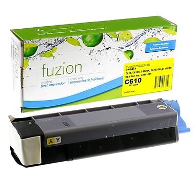 fuzion™ New Compatible Okidata C610 Yellow Toner Cartridges, Standard Yield (44315301)