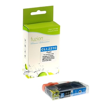 fuzion™ New Compatible Canon CLI221C Cyan Ink Cartridges, Standard Yield (2947B001)