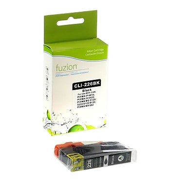 fuzion™ New Compatible Canon CLI226BK Black Ink Cartridges, Standard Yield (CLI226BK)