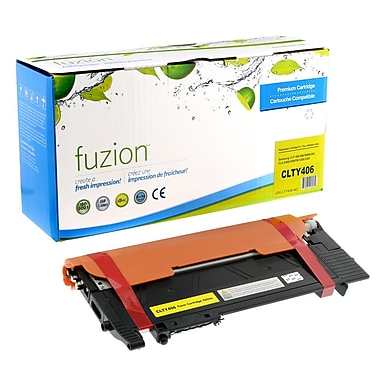 fuzion™ New Compatible Samsung CLP365 Yellow Toner Cartridges, Standard Yield (CLTY406)