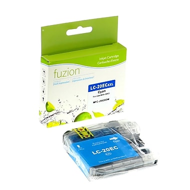 fuzion™ New Compatible Brother LC20EC Cyan InkJet Cartridge, Extra, High Yield (LC20EC)