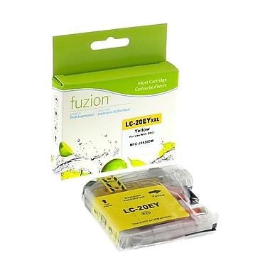 fuzion - Cartouche jet d'encre jaune neuve, compatible Brother LC20EY, très haut rendement (LC20EY)