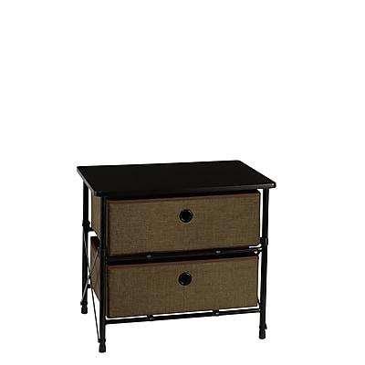 RiverRidge® Kids Sort & Store - 2-Bin Organizer - Brown (16-001)