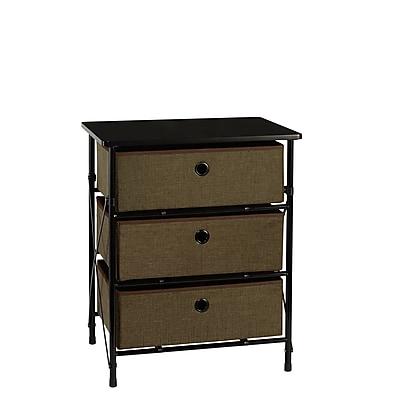 RiverRidge® Kids Sort & Store - 3-Bin Organizer - Brown (16-003)