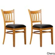 Benkel Seating Slatback Solid Beech Wood Chair (Set of 2); Cherry