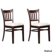 Benkel Seating Slatback Solid Beech Wood Chair (Set of 2); Walnut
