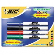 BIC CORPORATION Great Erase Bold Pocket Style Dry Erase Fine Point Markers (4/Pack)