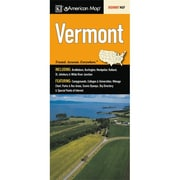 Universal Map Vermont State Map Fold Map